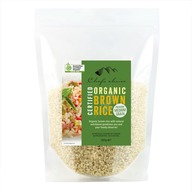 Organic Premium Biodynamic Brown Rice 500g