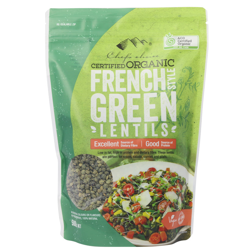 Organic French Style Green Lentils 500g