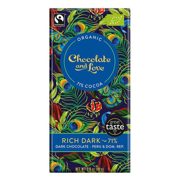 Rich Dark 71% - Dark Chocolate Peru & Dominican Republic