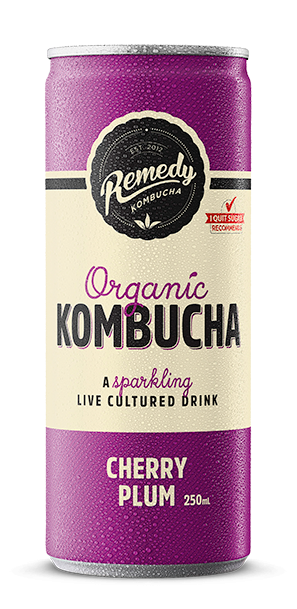 Organic Kombucha Cherry Plum 250ml