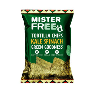 Vegan Tortilla Chips With Kale And Spinach