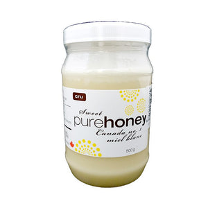 Raw Unpasteurized  Honey 500ml in PET bottle