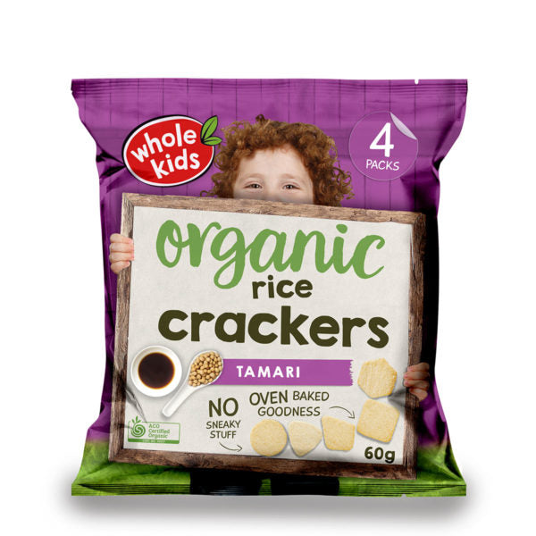 Brown Rice Crackers-Tamari x 4 packs