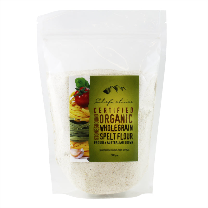 Organic Stone ground Whole grain Spelt Flour 500g