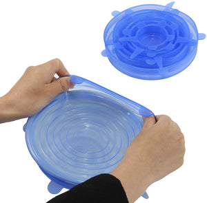 Re-Usable and Stretchable Sealing Lid ( Pack of 6)