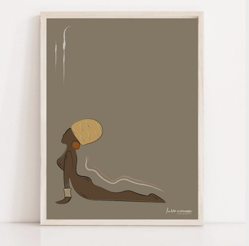 Upward Dog Print Colour