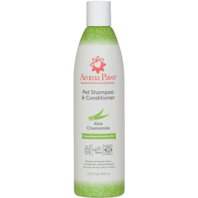 Hypoallergenic & Fragrance Free Dog Shampoo & Conditioner in One 13.5 Oz.