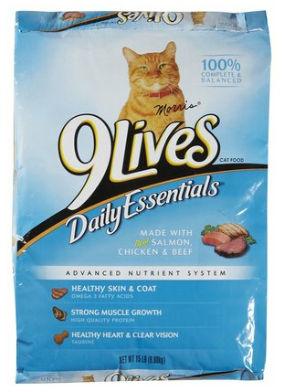 9 Lives Daily Essentials Formula Dry Cat Food 12 Lb. - For Paw Sakes