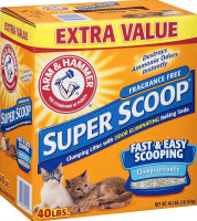 Arm & Hammer Super Scoop Unscented Clumping Litter - For Paw Sakes