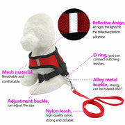 1 Set Breathable Dog/Cat Leash &  Harness - For Paw Sakes