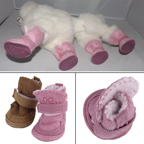 Pink Pup  Winter Boots
