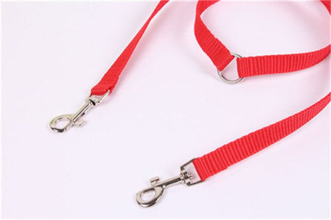 Two Head Dog Collar Double Twin Leash