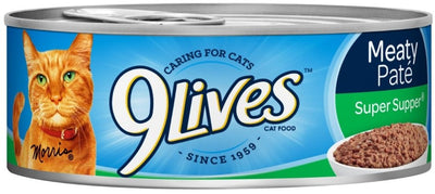 9 Lives Meaty Pate Super Supper Canned Cat Food 13 Oz. Case of 12 - For Paw Sakes