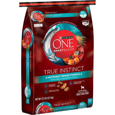 Purina One SmartBlend True Instinct Real Salmon & Tuna Adult Premium Dry Dog Food 27.5 Lb.