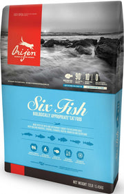 Orijen Grain Free Six Fish Dry Cat Food