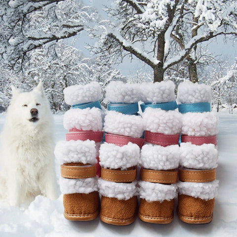 4 Pc/ Set Cute Winter Pup Boots