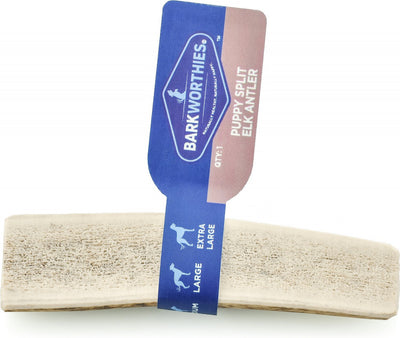 Backworthies Split Elk Antler Dog Chew for Puppies & Small Breed Dogs