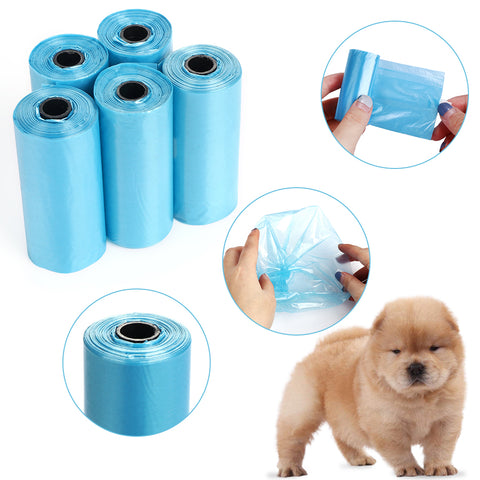 5/10Rolls/Pack Earth Friendly Coconut Clean Pooper Bags - For Paw Sakes