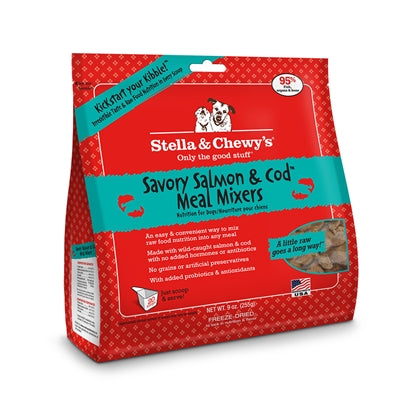 Stella & Chewy's-Freeze-Dried Savory Salmon & Cod Meal Mixers for Dogs - 9oz