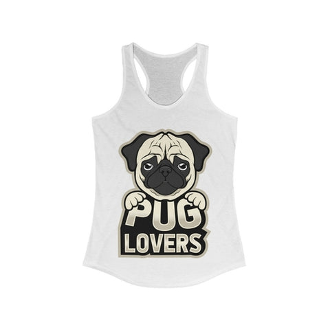 Women's Pug Lover Racerback Tank Top