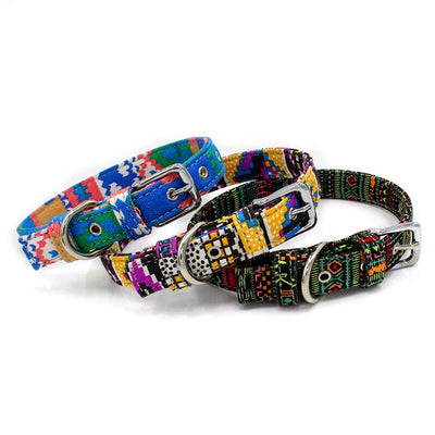 Adjustable Bohemian Dog Collar - For Paw Sakes