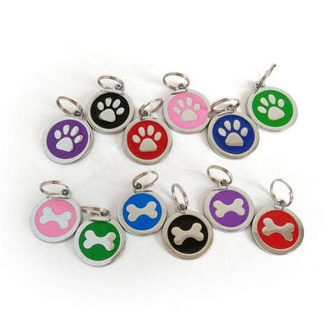 Anti-Lost Pet Dog/Cat Name Address Label Tag - For Paw Sakes