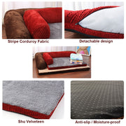 Dog Pet Mat with Bolster