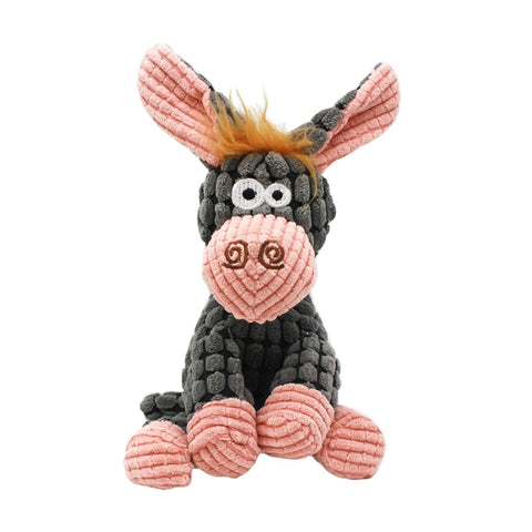Stuffed Donkey Squeaking Plush Dog Toy