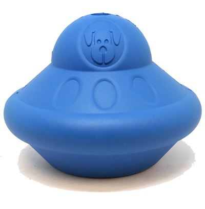 Flying Saucer Durable Rubber Chew Toy & Treat Dispenser - Large