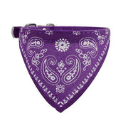 Pink/Purple Adjustable Pet Collared Bandana