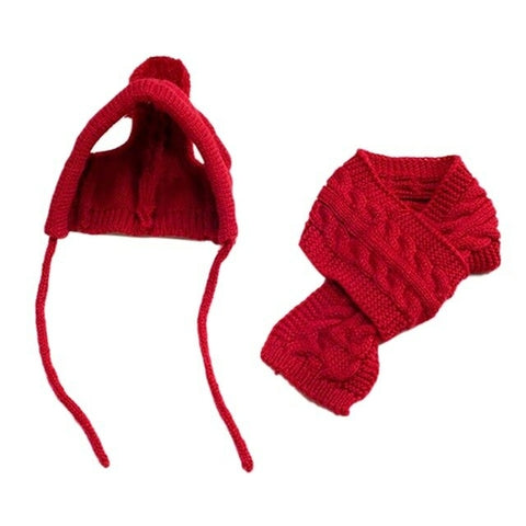 Winter Warn Knitted Hat & Scarf