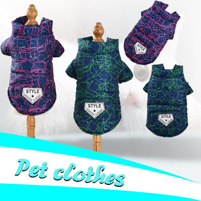 Colorful Winter Warm Dog Jacket