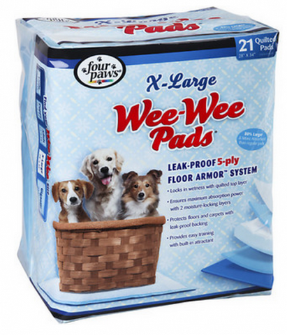 Four Pawz Wee-Wee Extra Large Puppy Housebreaking Pads