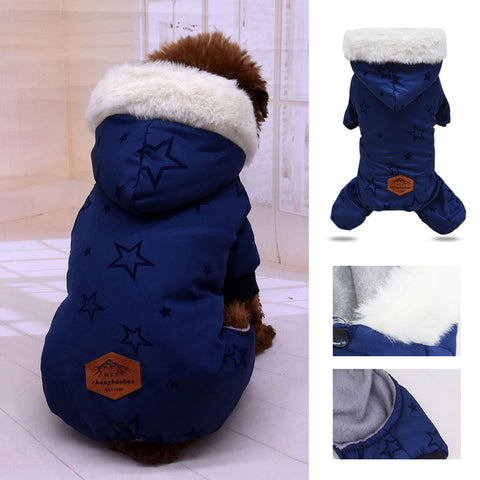 Blue Plush Sweatshirt with Hood