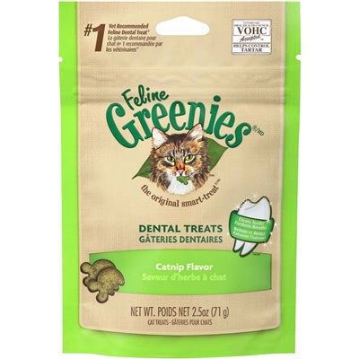 Greenies Feline Dental Treat Catnip Flavor for Cats 2.5 Oz.