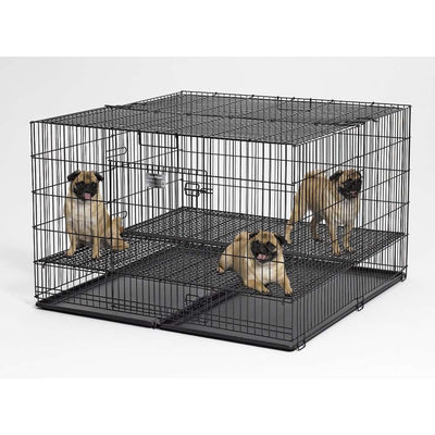 Midwest Puppy Playpen with Plastic Pan with 1 Inch Floor Grid