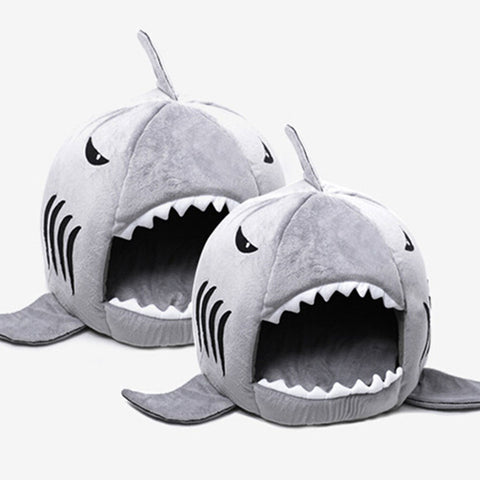 Shark Bed -Help your pet over come its fear of sharks by making it sleep in one!