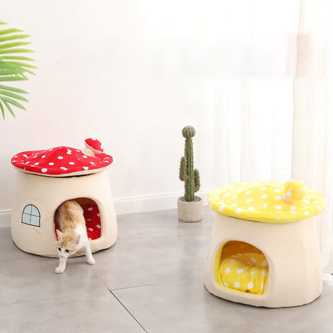 Mushroom House House Puppy Bed  Cute Animal Cave