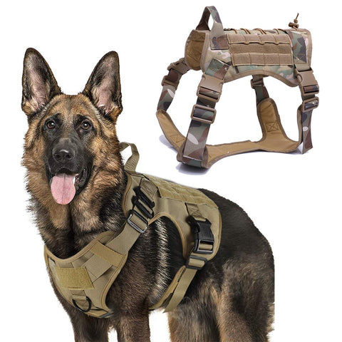 Military Tactical Dog Harness- help your dog regain its confidence with this hard core vest