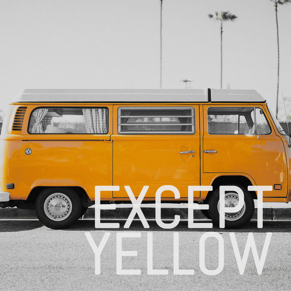 EXCEPT YELLOW