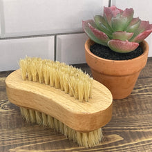 Load image into Gallery viewer, Bamboo & Boar Bristle Fingernail Brush - Soapworks Factory