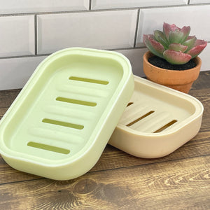 Plastic Two-Part Soap Tray in 2 Colors - Soapworks Factory