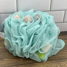Load image into Gallery viewer, Sponge-Filled Nylon Shower Pouf in 4 Colors - Soapworks Factory