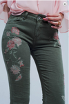 Butterfly Floral Embroiderd Jeans