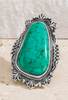 Turquoise Natural Stone Cuff Ring