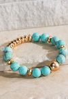 Turquoise Gemstone Stretch Bracelet