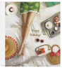 Artful, Fun and Framable Greeting Card - Happy Birthday (Breakfast in Bed)