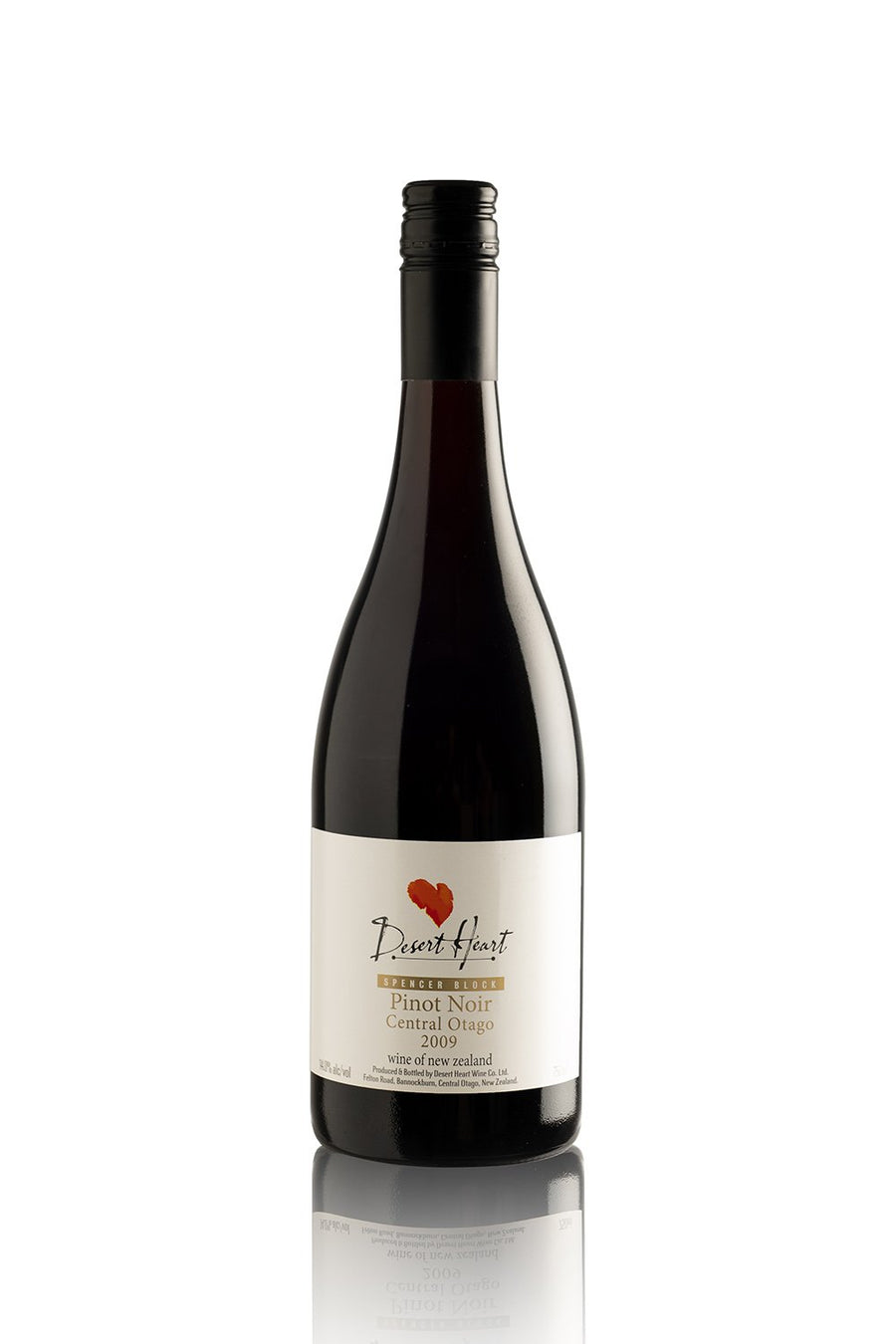 Desert Heart 'Spencer Block' Pinot Noir 2009