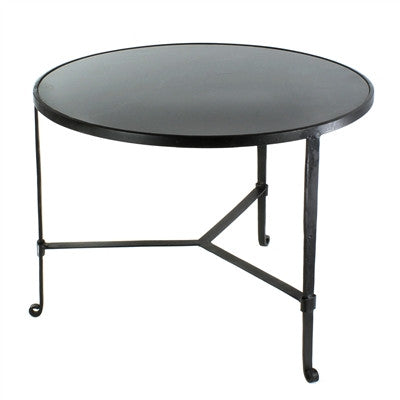Savoy Iron & Stone Coffee Table - Black