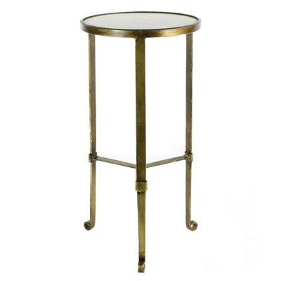 Savoy Iron & Stone Side Table